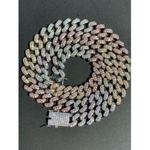 Harlembling Men 925 Sterling Silver Diamond Chain